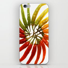 Charleston Hot Peppers Color Wheel iPhone Skin