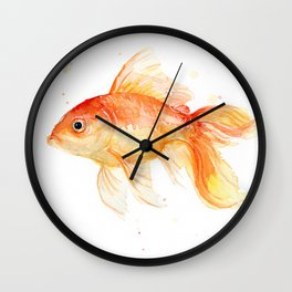 Goldfish Watercolor Fish Wall Clock