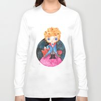 le petit prince Long Sleeve T-shirts featuring Le petit prince by Laura Barocio