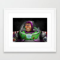 buzz lightyear Framed Art Prints featuring Buzz Lightyear by Ben Hayward