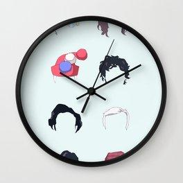 Serial Hair Wall Clock