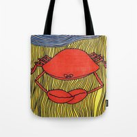 crab Tote Bags featuring Crab by mojekris