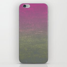 Pink, Gold & Silver Ombre Shimmer iPhone Skin