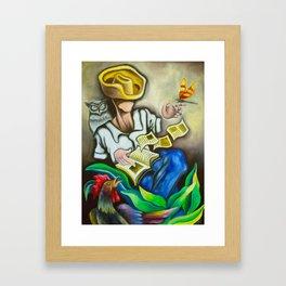 History teller Framed Art Print