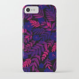 Neon Floral Print iPhone Case
