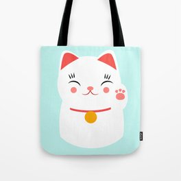 Lucky happy Japanese cat Tote Bag