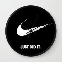 Nike - Just Did It (Parody) Wall Clock