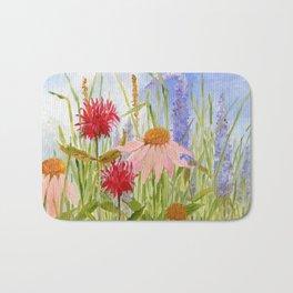Garden Flowers on Sunny Day Bath Mat