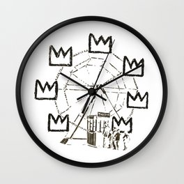 Ferris Wheel, Banksy Pays Tribute To Jean-Michel Basquiat, Artwork, Tshirts, Posters, Bags, Prints, Wall Clock