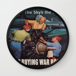 Vintage poster - War Bonds Wall Clock