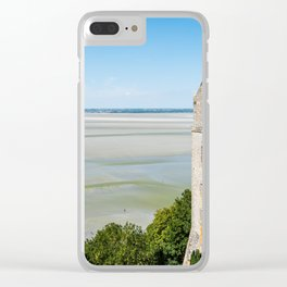 Mont Saint-Michel and the bay at low tide Clear iPhone Case
