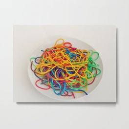 Untitled Spaghetti Metal Print