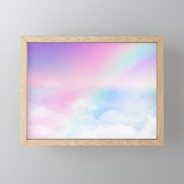 Pretty Rainbow Framed Mini Art Print