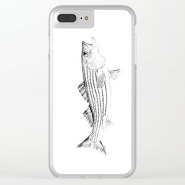 Striped Bass - Pen and Ink Illustration Clear iPhone Case