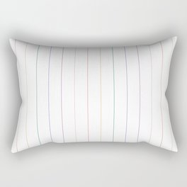 Rainbow Pinstripes Rectangular Pillow