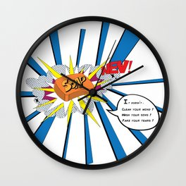 Soap doesn´t wash your sins Wall Clock