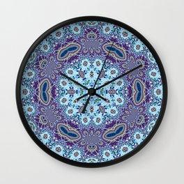 Modern Traditional Lacey Mandala Wall Clock