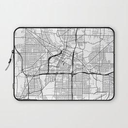 Akron Map, USA - Black and White Laptop Sleeve