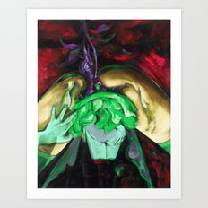 Passion purple Art Print