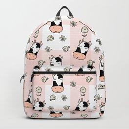 CUTE COW PLAID Backpack