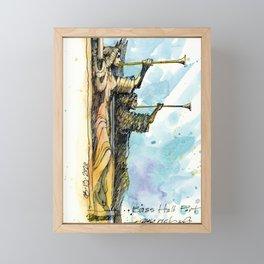 The Angels at Bass Hall Framed Mini Art Print