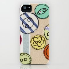 Embroidered Button Illustration iPhone (5, 5s) Slim Case