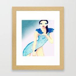 fascinating girl Framed Art Print