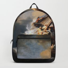 Stolen Painting - The Storm on the Sea of Galilee by Rembrandt Backpack