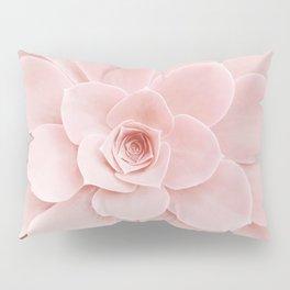 Blush Succulent Pillow Sham