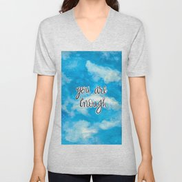 You Are Enough 2 Unisex V-Neck