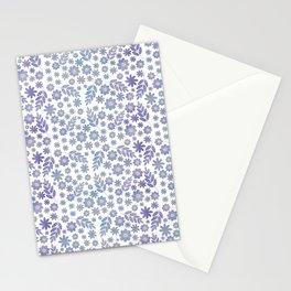 Grey & Lavender Floral Pattern Stationery Cards