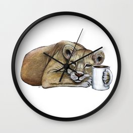 """""""Lazy Lioness"""" - Java Jungle collection Wall Clock"""