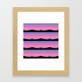 Abstract mountains horizons Framed Art Print