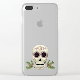 Knotwork Skull Clear iPhone Case