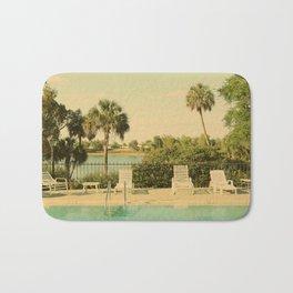 Lolita's Poolside Vacation - Beach Art Bath Mat