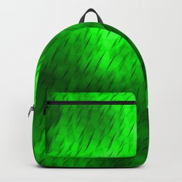 Line texture of green oblique dashes with a bright intersection on a luminous charcoal. Backpack