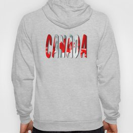 Canada Word With Flag Texture Hoody