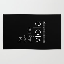 Live, love, play the viola (dark colors) Rug