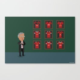 Sir Alex Ferguson's retirement Canvas Print