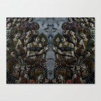 buddhism Canvas Prints featuring Buddhism by gustav butlex