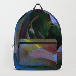 Floribunda Rose - Cool Blue Green Backpack