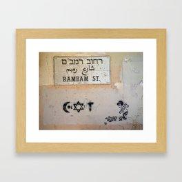 Tel Aviv Street Art / Coexist / Religion Framed Art Print
