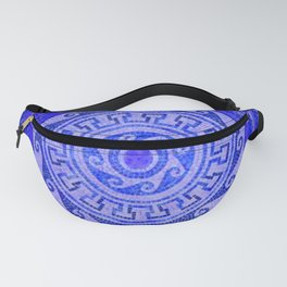 Mosaic Circle Blue Fanny Pack