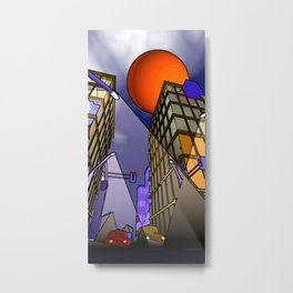 night in the city - abstract Metal Print