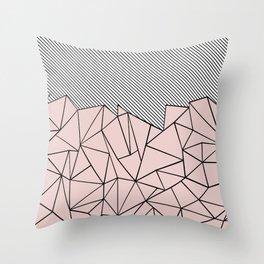 Ab Lines 45 Dogwood Throw Pillow