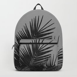 Gray Black Palm Leaves with Black Silver Glitter #1 #tropical #decor #art #society6 Backpack