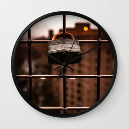 Lock Up Rain Drop Wall Clock