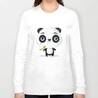 panda Long Sleeve T-shirts featuring Panda by Maria Jose Da Luz