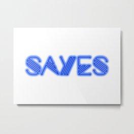 SaYes – he Metal Print