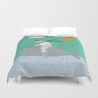 sailing Duvet Covers featuring sailing by bri.buckley